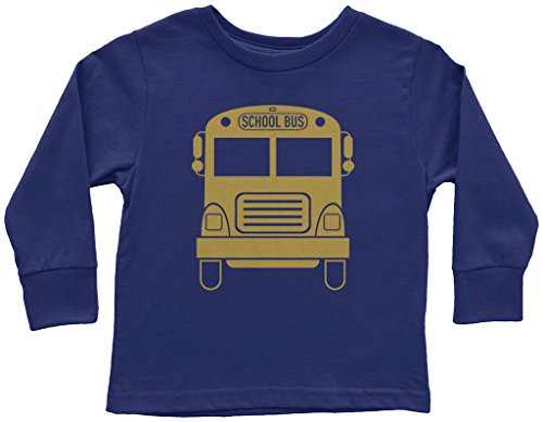 Threadrock Kids Gold School Bus Toddler Long Sleeve T-Shirt 3T (School Toddler Tee)