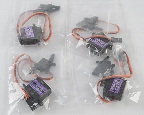 Zantec Thinkmax 1pcs MG90S Metal angepasst Micro Tower Pro Servo f/ür Flugzeug Hubschrauber Boot