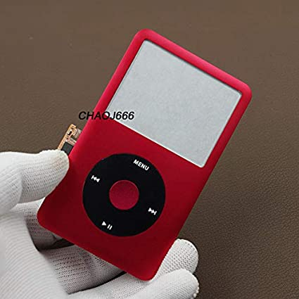 new black housing faceplate case cover red clickwheel for ipod 6th classic 120gb