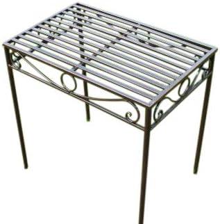 OFERTA - Mesa auxiliar o soporte para plantas de metal estilo Versalles en acabado bronce antiguo (Tamaño grande) - Ideal para la casa o el jardín: Amazon.es: Jardín
