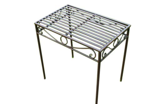 Olive Grove REDUCED- Versailles Metal Side Table or Plant Stand in Antique Bronze Finish (Large Size)- Ideal for the Home or Garden
