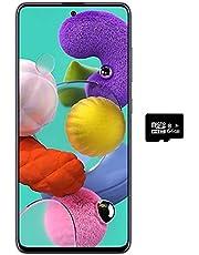 """$315 » Samsung Galaxy A51 (128GB, 4GB) 6.5"""", 48MP Quad Camera, Dual SIM GSM Unlocked A515F/DS- Global 4G LTE International Model (Black, 64GB SD + Case Bundle)"""