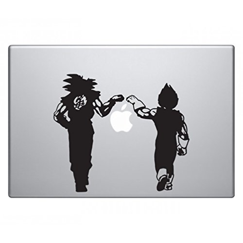 Dragon Vegeta & Goku Fist Bump DBZ Sticker Decal Notebook Car Laptop 5 (Black)