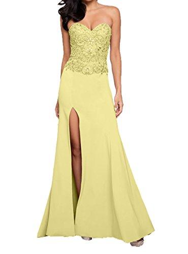 Langes Neu Abendkleider Festlichkleider Charmant Damen Gelb Abschlussballkleider Partykleider Ballkleider x5wORqpPn