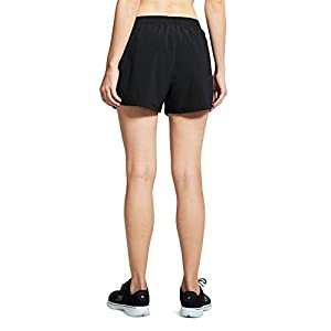 """Baleaf Women's 3"""" Woven Running Shorts With Pockets Black Size M"""