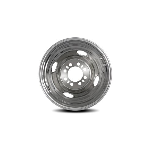 Pacific Dualies 38-3608 16'' Stainless Steel Wheel Simulator Rear Tag-Axle Kit for 1974-2000 Chevy GMC 3500, 1974-1998 Ford F350/E350/E450, 1974-1999 Dodge 3500 Truck Van RV