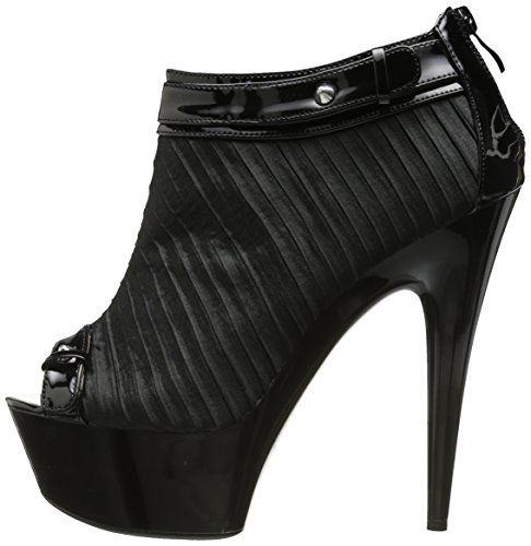 Bootie Satin Ruching with 6 Peeptoe 4wZgxq1AH1