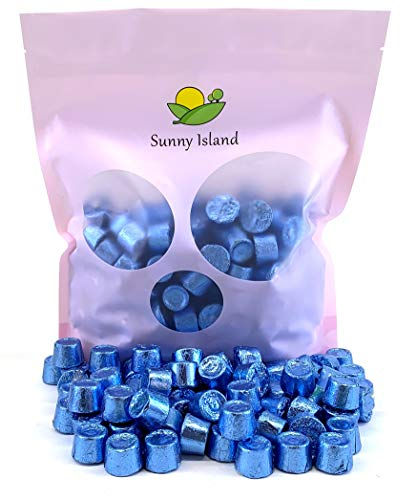 Sunny Island Bulk - Rolo Chewy Caramel Creamy Milk Chocolate Candy Blue Foil, Individually Wrapped, 2 Pounds Bag