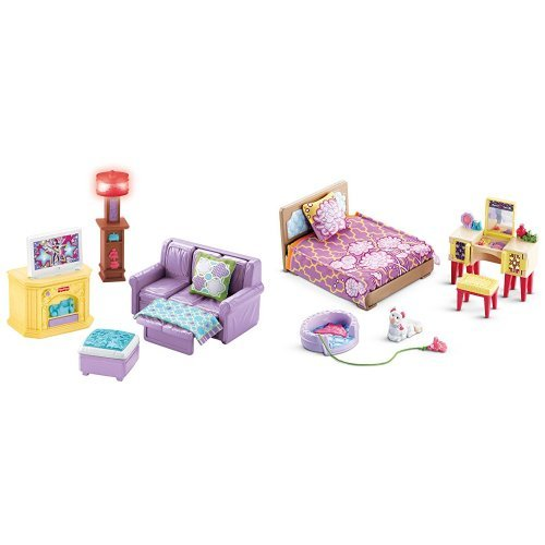 Fisher Price Loving Family Room and Parent's Bedroom