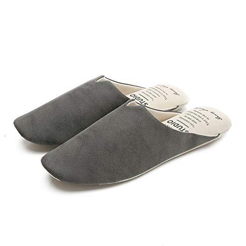 Size Gray Colori colore Pelle Zhangqiang Coppia Opzionali Dimensioni Stile Pattini Scuro In Grigio Moda Casa Giapponese Dirty one Pantofole Scarpe Ciabatte Inverno 3 M Pavimento 6UqCXBw
