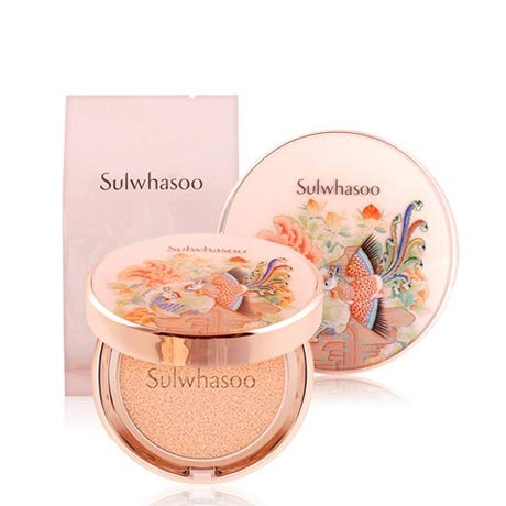 Sulwhasoo Phoenix collection Perfecting Cushion EX 15g with refill 15g SPF50+ PA+++ (No.21 Natural Pink) (Best Foundation Of 2019)