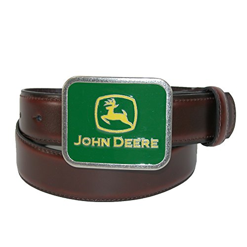John Deere Boys Leather Belt with Enamel Buckle - Buckles John Deere