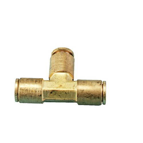 0.375' Brass Tee - Orbit 2 Pack 3/8 Foot Brass Slip-Lok Mist System Tubing Tee