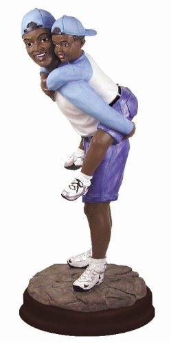 African American Figures Figurine Family Father & Son
