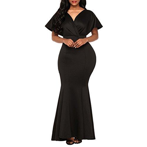 Mujeres Muchachas Sin Espalda Elegante Cómoda Suave m Regalo Fiesta Sensación Vestido Homyl Graduación negro 4qXxWw5IFn
