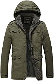 JYG Men's Winter Thicken Coat Casual Military Parka Jacket with Removable