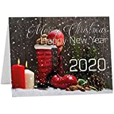 CHRISTMAS New Year 2020 Seasons Greeting Cards size A6 or A5