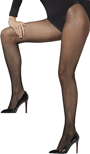 Women Adults Fancy Dress Party Sexy Stocking Fishnet Tights Black Pack Of 5 by Smiffy's