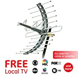 GE Pro Attic Mount TV Antenna, Outdoor, Attic, Long Range Antenna,...