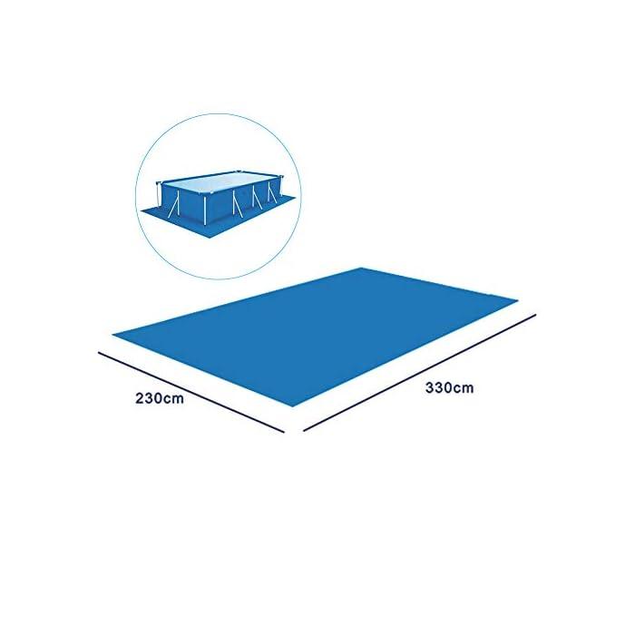 4142LqvuCkL 【Tamaño adecuado】 330 * 230 cm / 129.92 * 90.55 pulgadas de tela rectangular rectificada / 0.69 kg. 【Fácil y conveniente】 Instalación simple, adecuada para varias piscinas. 【Fácil de transportar y guardar】 Se puede plegar para facilitar el movimiento a cualquier lugar.