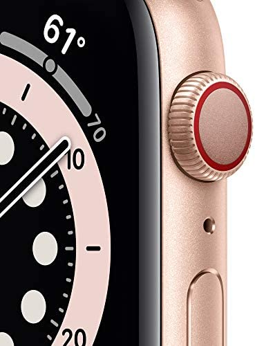 New AppleWatch Series 6 (GPS + Cellular, 44mm) - Gold Aluminum Case with Pink Sand Sport Band WeeklyReviewer