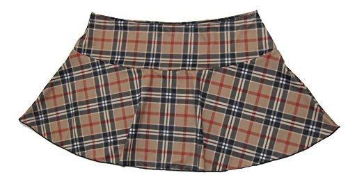 Delicate Illusions Plus Size School Girl Plaid Mini Skirt 4X (20-22) Tan (Tan Plaid Skirt)