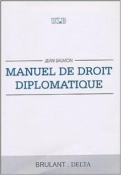 Book's Cover of Manuel de droit diplomatique (Français) Broché – 1 janvier 1996