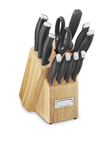 Cuisinart C77SSB-12P Color Pro Collection 12 Piece Knife Block Set, Black