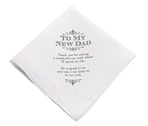 (Lillian Rose HA180 ND New Dad Wedding Gift White Keepsake Hankie, 17