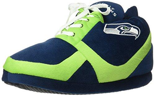 NFL Seattle Seahawks 2015 Sneaker Slipper, Large, Green