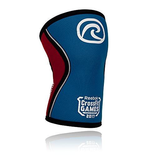 Rehband Crossfit Games 2017 Rx Knee Support 5mm - Small - Blue/Red - Expand Your Movement + Cross Training Potential - Knee Sleeve for Fitness - Feel Stronger - Relieve Strain - 1 Sleeve