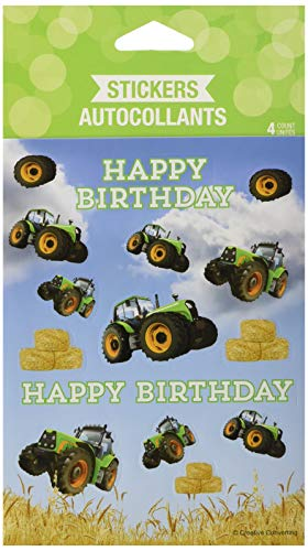 Creative Converting Tractor Time Sticker Favors Party Supplies,