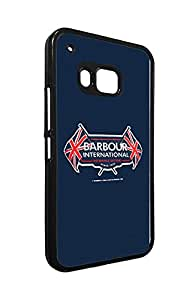 Htc One M9 Pretty Fundas Case, Advanced Famous Barbour Brand Pattern Fundas Case, TPU Bumper Htc One M9 Fundas Case Vogue Logo Fundas Case Cover for Women Girls