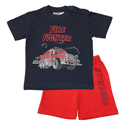 Frogs and Dogs | Shortama Fire Fighter | Blauw | Maat 98