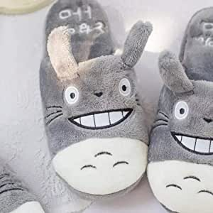 LYLCC Cute Cartoon Cotton Tow - Shoes Men And Women Couples Cute Home Slippers Couple Cotton Slippers Autumn And Winter Home Indoor House Bedroom Slippers Indoor Flat Shoes Winter Warm Shoes