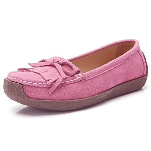 rose paresseuse et Chaussures bouche Simple 38uk Femmes peu Chaussures simple profonde Femmes plates Grossesse en cuir Goldgod AZ8vqxFwx