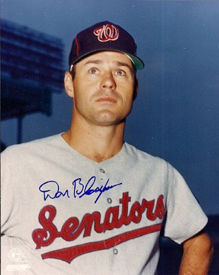 Washington Senators Baseball Photo - Signed 8x10 Photo Don Blasingame Washington Senators - Autographed Baseball Photos
