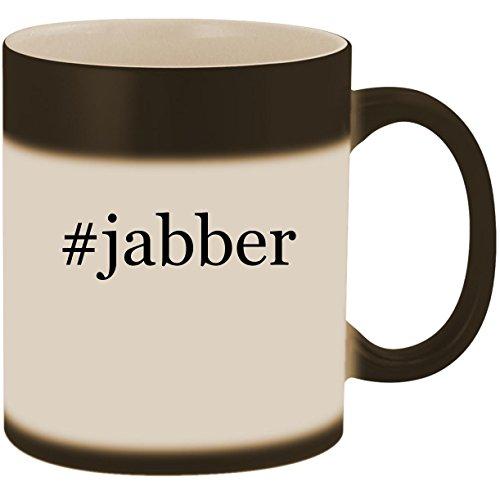 #jabber - 11oz Ceramic Color Changing Heat Sensitive Coffee Mug Cup, Matte Black -