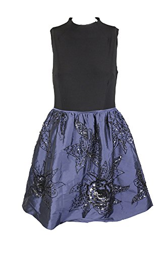 Adrianna Papell Taffeta Skirt (Adrianna Papell Womens Sequined Beaded Party Dress Black 2)