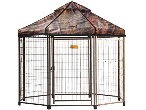 Advantek Original Pet Gazebo Outdoor Dog Kennel with Reversible Cover, 5 ft (Dark Forest) (Renewed)