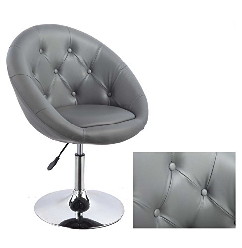Duhome-0335-Sessel-in-Grau-hhenverstellbar-Kunstleder-Clubsessel-Coctailsessel-Loungesessel