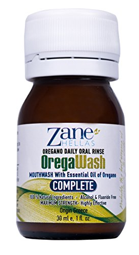OREGAWASH Oregano Daily Oral Rinse. 100% Natural. 1 Fl. Oz. - 30ml. Alcohol, Fluoride Free. Naturally Bacteria Fighting. Ideal for Gingivitis, Plaque, Dry Mouth, Bad Breath Support. Good Oral Health. ()