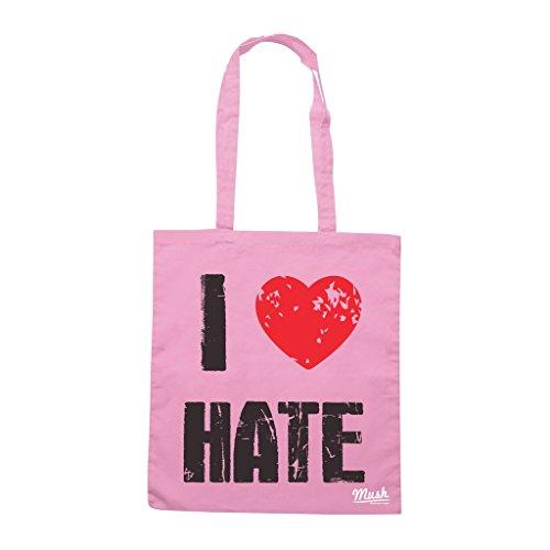 Borsa I LOVE HATE - Rosa - MUSH by Mush Dress Your Style