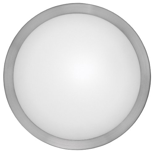 Eglo 87328A Arezzo Wall/Ceiling Light, Matte Nickel