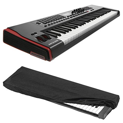 Novation Impulse 61 USB Midi Controller Keyboard, 61 Keys with Kaces KKC-MD Dust Cover