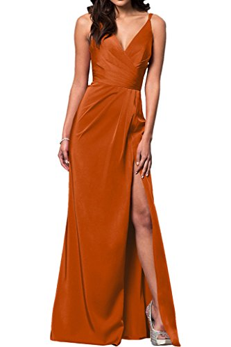 La Aermellos Abendkleider Gruen Ballkleider Partykleider Etuikleider Orange Damen Dunkel Bodenlang Chiffon mia Braut fZrgfT