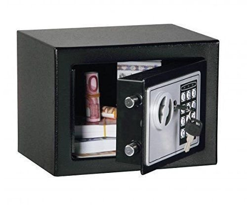 Black Digital Electronic Safe Small Box Combo Keypad Lock Home Office Hotel Gun