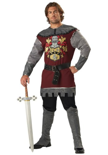 Medieval Tunic Costumes (InCharacter Costumes Men's Noble Knight Costume, Silver/Burgundy, Medium)