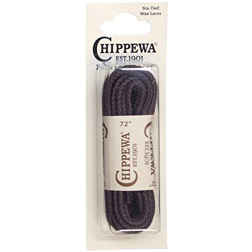 Chippewa 72 in. Sta-Tied Waxed Boot Laces Brn Sox9572-300 Brown One Size -