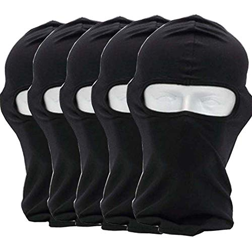 CxYuan 5pcs 1 Package Black 2018 Balaclava 1-Pack Face Mask Motorcycle Helmets Liner Ski Gear Neck Gaiter Ski Mask Accessories (Extra Warm) (black)